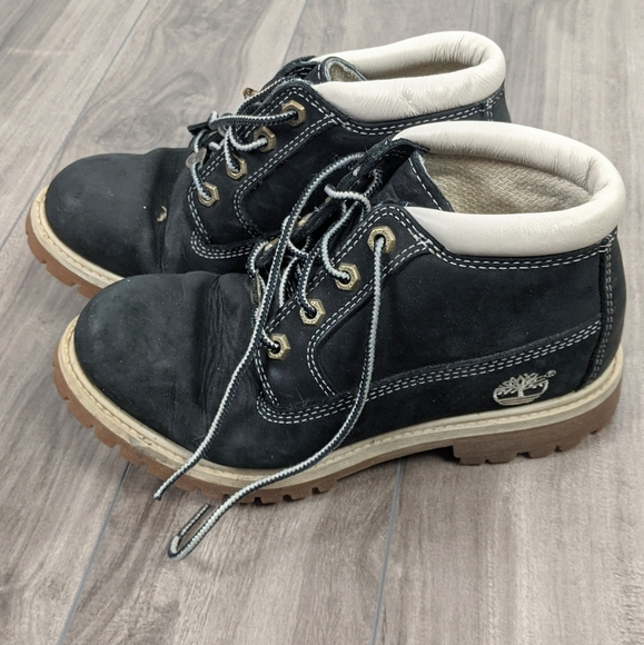 Timberland Black Leather Boots Size 6